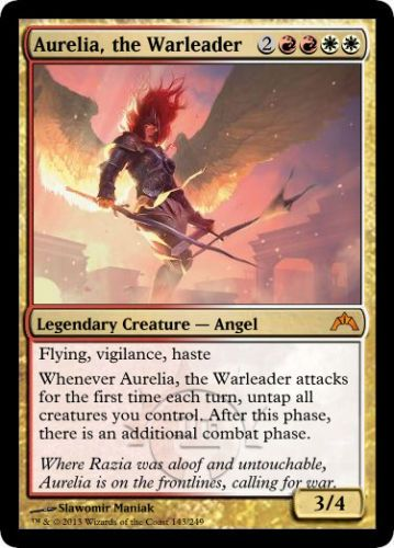 Aurelia the Warleader mtg Magic the Gathering Gatecrash ...