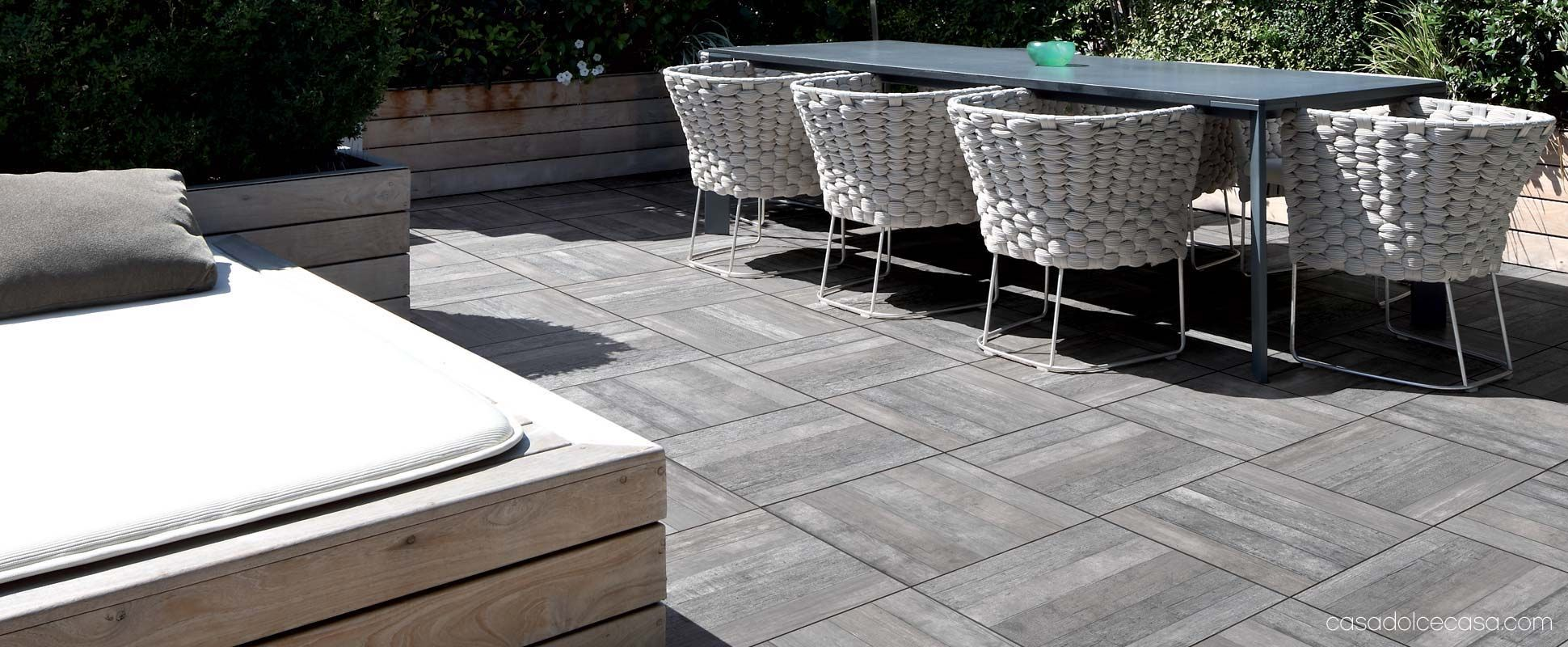 Self Laying Wood Effect Floor Tiles For Outside Floors: Icon Outdoor