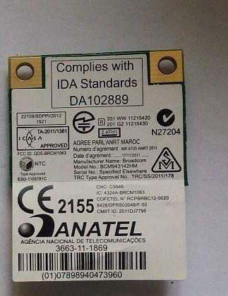 SSEA Network Card for Broadcom BCM943142HM WIFI Bluetooth 4 0 half