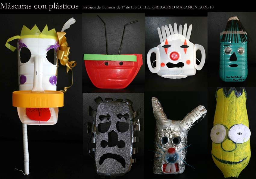 máscaras con bidones