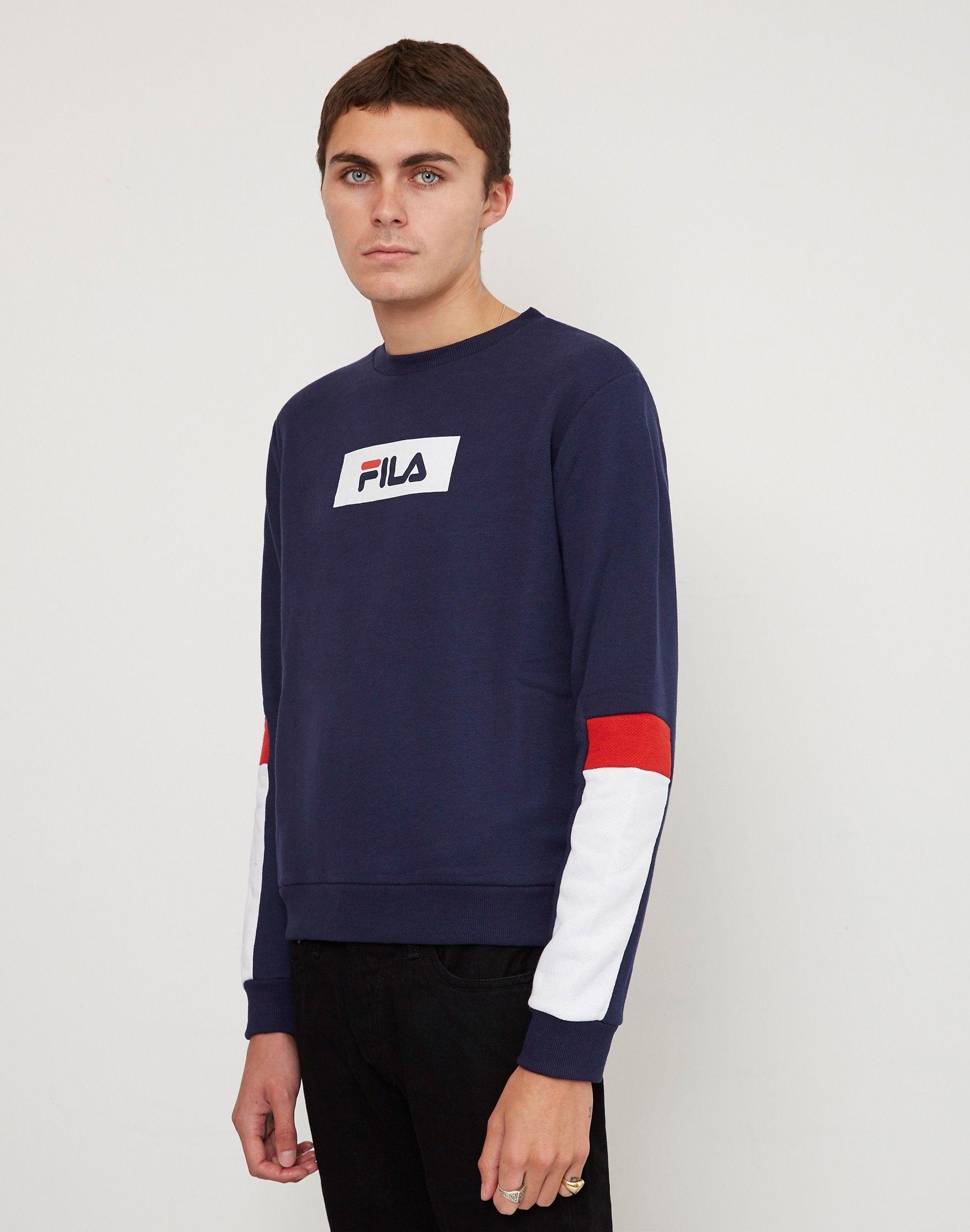 da28ab6fc11a Fila Tommy Fashion Crew Neck Sweatshirt Navy