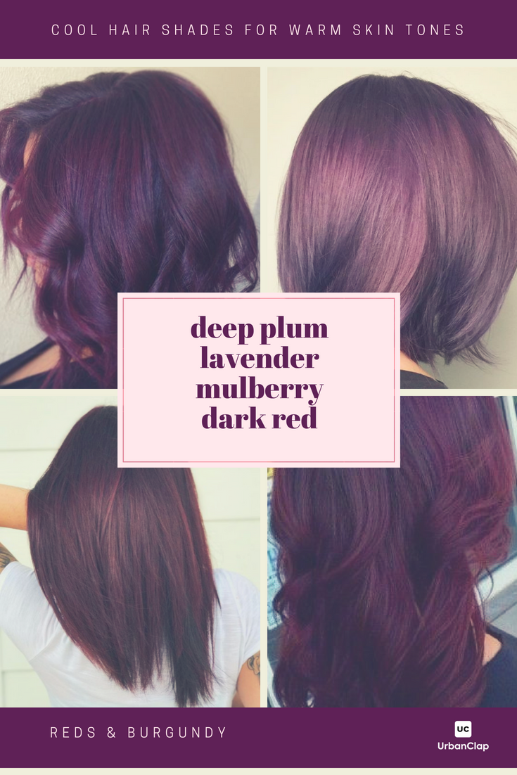 13 Burgundy Hair Color Shades For Indian Skin Tones Hair Color For Warm Skin Tones Hair Color Shades Warm Hair Color