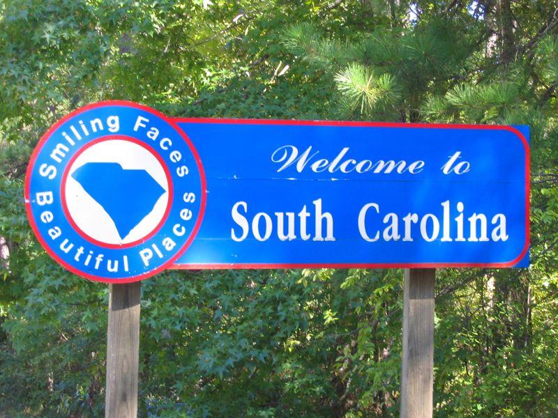 USA signs South Carolina South carolina