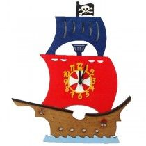 Childrens Wall Clocks Pirate - Available now on Becky & Lolo