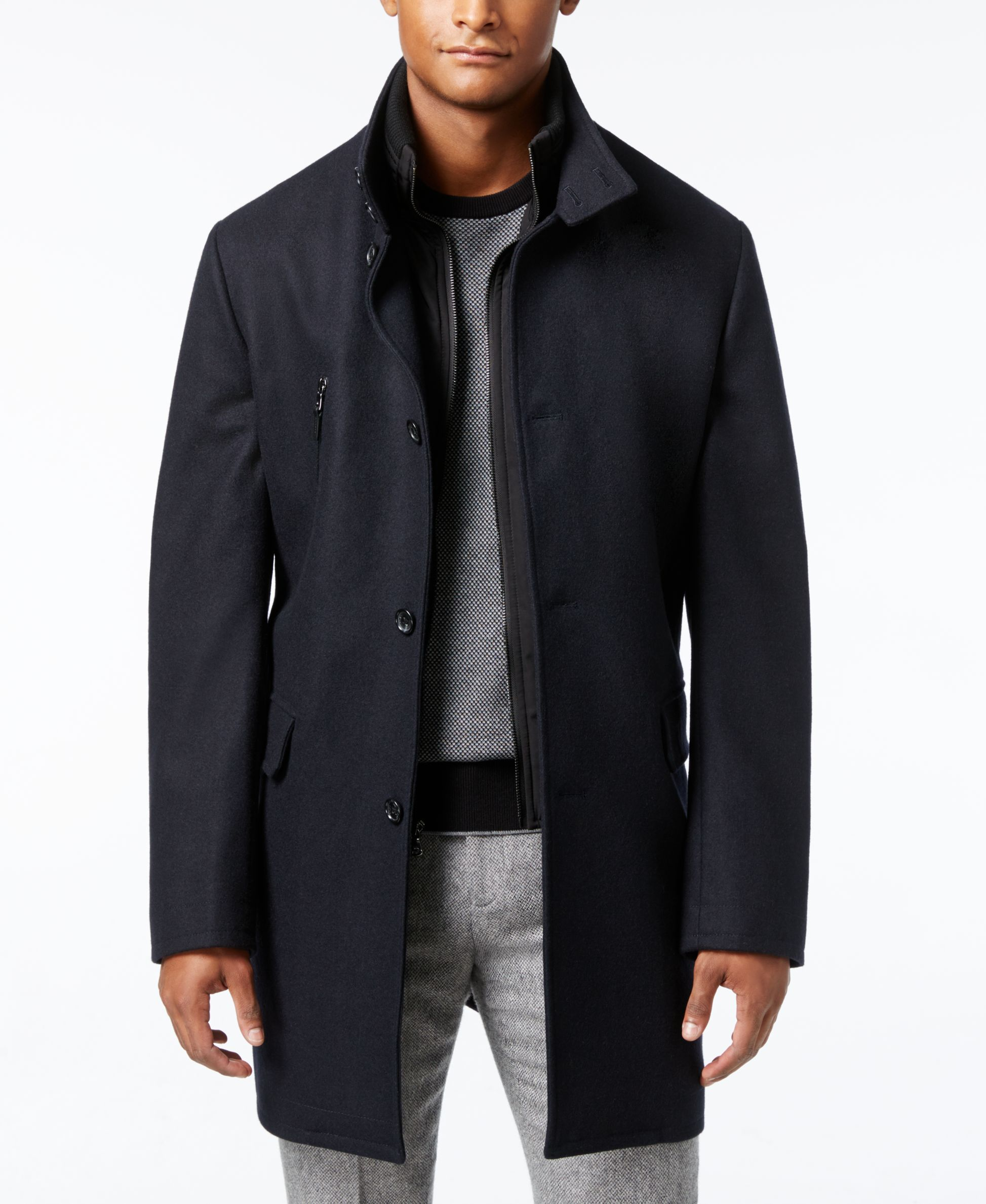 Michael Michael Kors Men S Water Resistant Bib Overcoat Overcoat Men Michael Kors Men Men S Coats And Jackets [ 2378 x 1947 Pixel ]