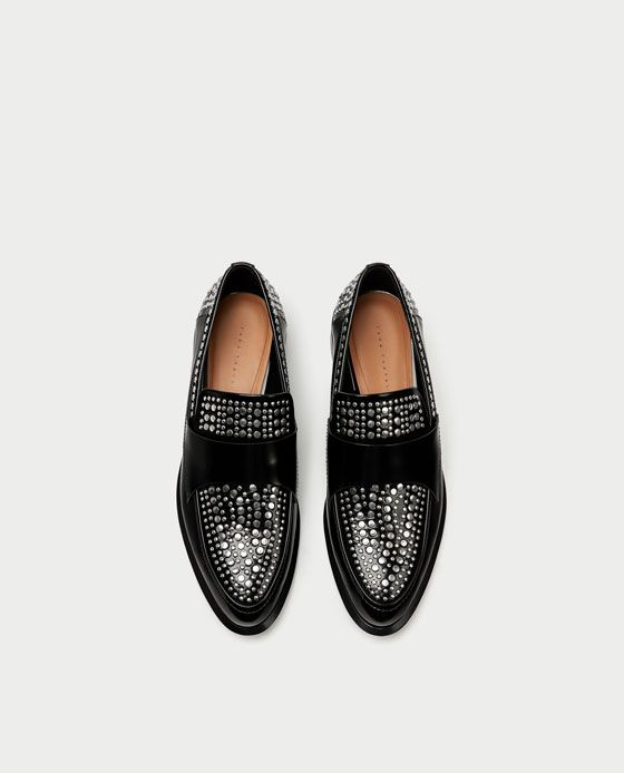 ZARA - WOMAN - STUDDED LOAFERS 9b1c9b1c602