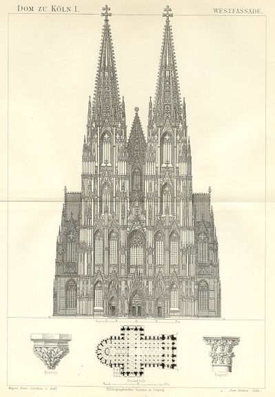 Cologne Cathedral A Study Architectural Prints Cathedral Cologne Cathedral