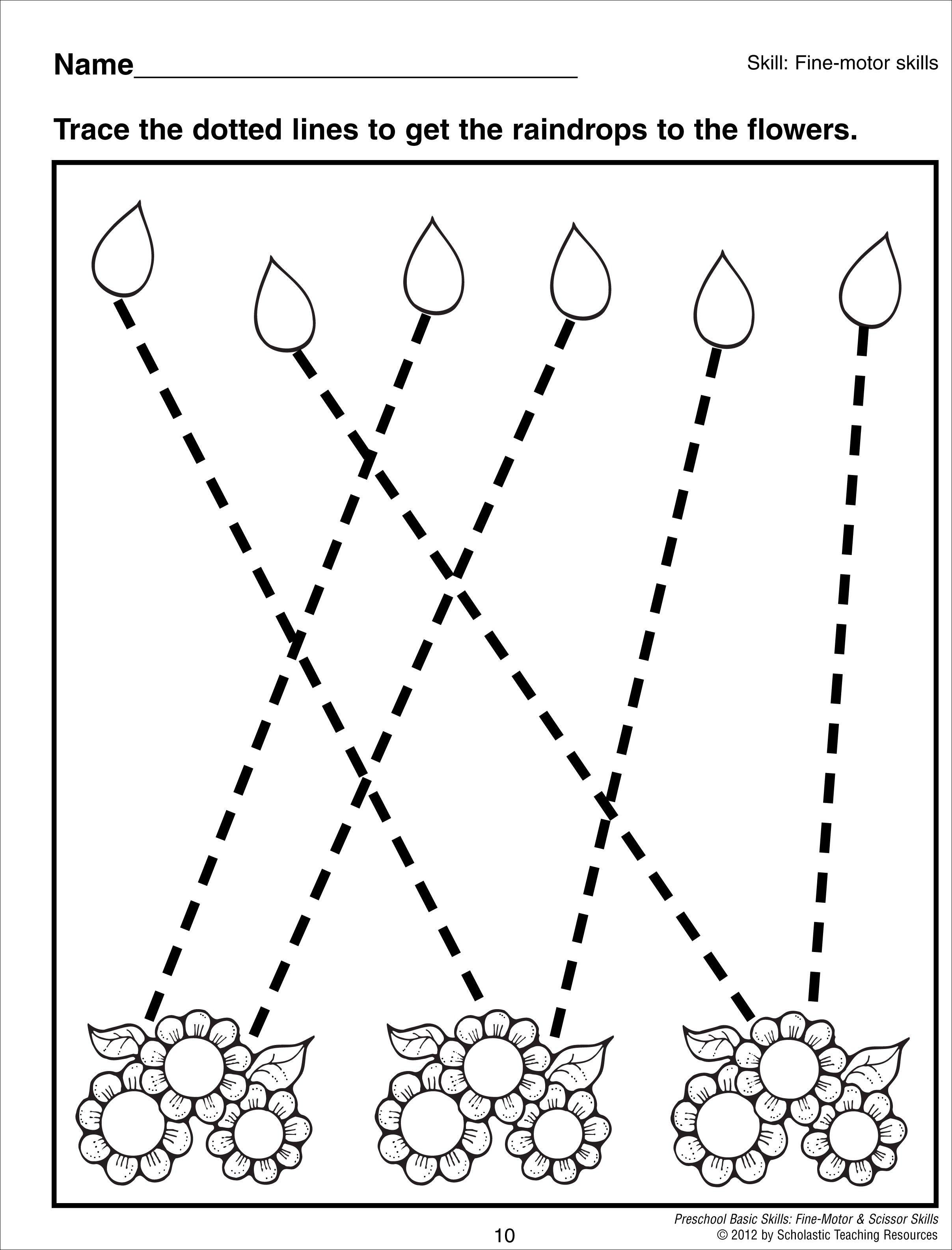 Tracing Angled Lines Preschool Basic Skills Fine Motor