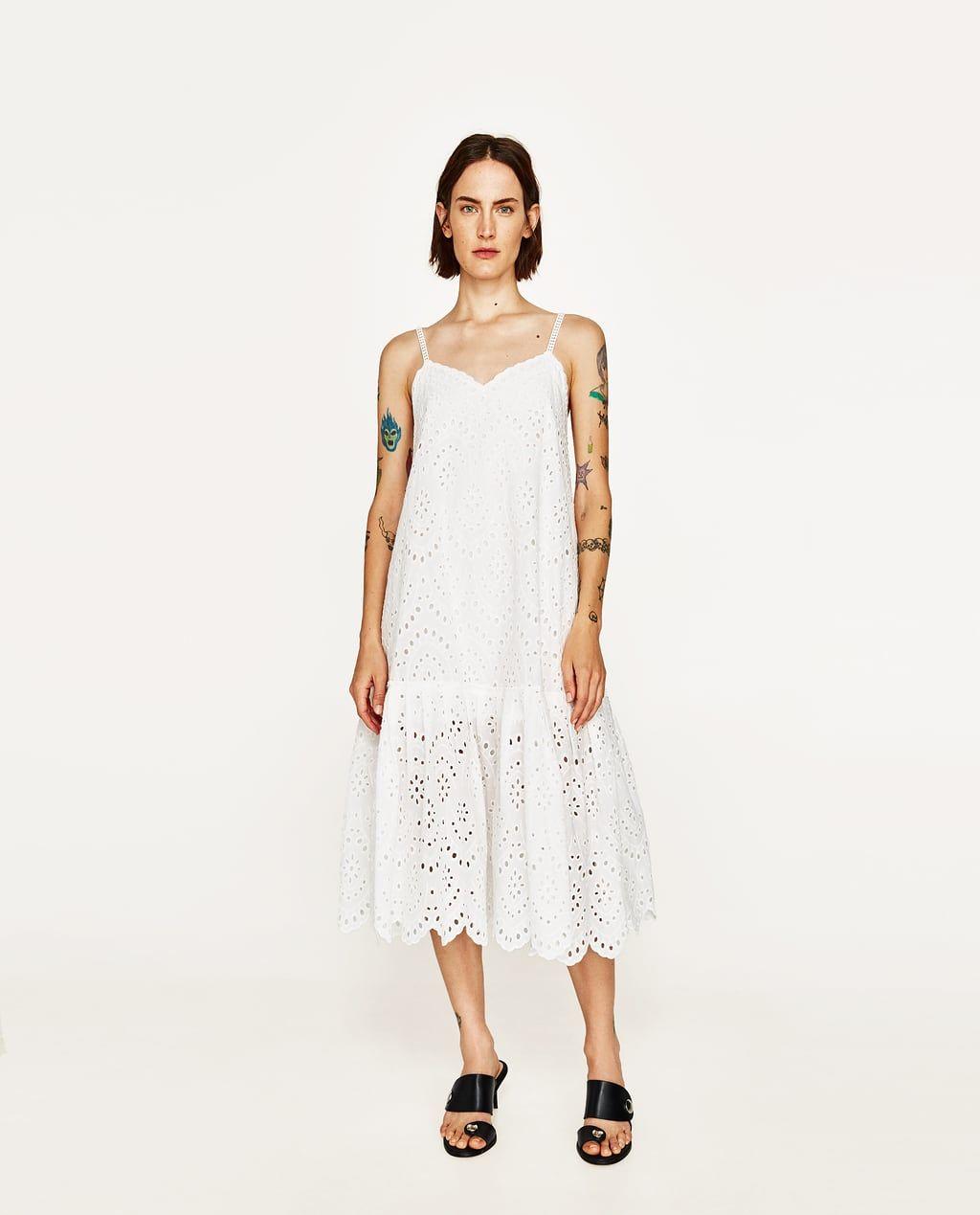 zara lace white summer dress 2017 | weißes sommerkleid