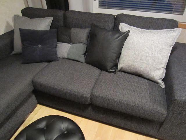 Tee-se-itse-naisen sisustusblogi: Variety Of Sewn Throw Pillows And Cushion Covers