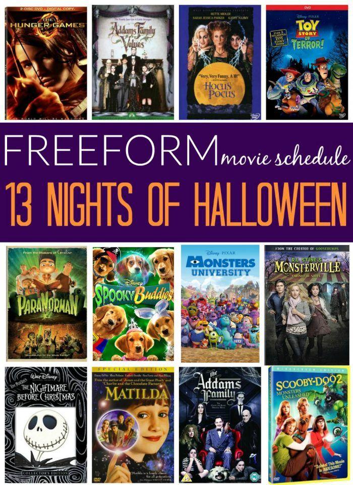 Freeform Halloween Schedule 2020 Octber 31st Starts Soon! Freeform 13 Nights of Halloween 2016 Movie Schedule
