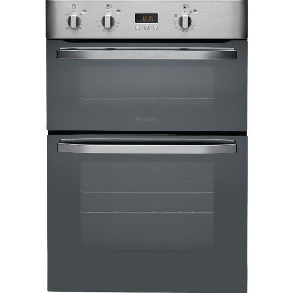 Hotpoint Dhs53cx Stainless Steel With 16 Off No Of Ovens Dual Electric Convection Oven Electric Double Oven Stainless Steel Oven Built In Double Ovens
