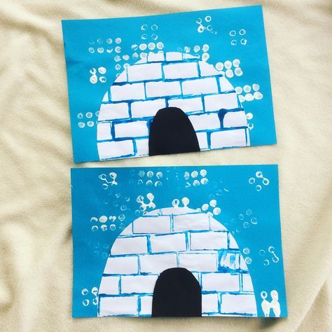 Créer un igloo avec des Duplo - Activité Enfant - Peinture et Duplo - Découpage - arts visuels - hiver - froid - banquise - maternelle - maman sur le Fil - activité manuelle et créative #activitemanuellenoelmaternelle