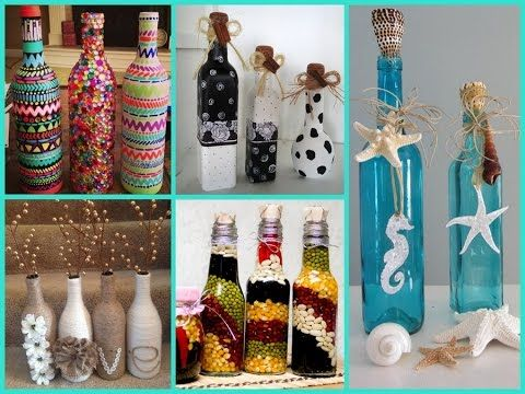 Kcl Turn Your Empty Wine And Beer Bottles Into Craft Projects Youtube Bottles Decoration Cheap Diy Home Decor Room Diy