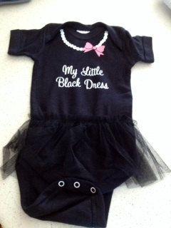 My Little Black Dress tutu onesie by ThunderRdEmbroidery on Etsy, $16.00