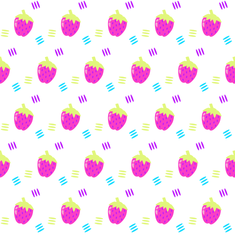 Berry Sweet Strawberry! - Summers Call - © PinkSodaPop 4ComputerHeaven.com fabric by pinksodapop on Spoonflower - custom fabric