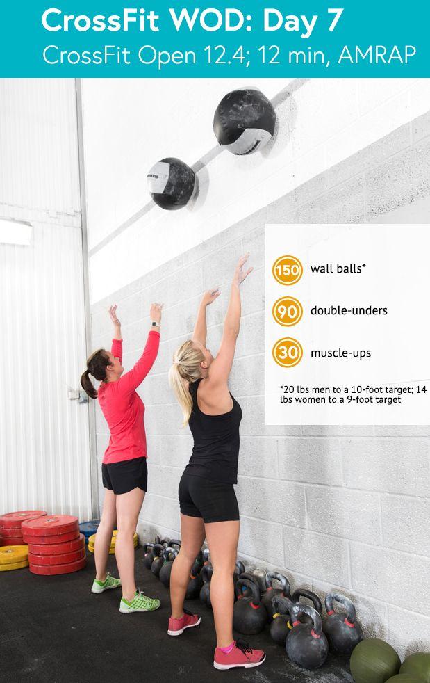 CrossFit Open 12.4: wall balls, double-unders, muscle ups