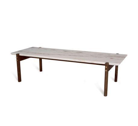 Manila Marble Organic Modernism Coffee Table Living Room Wood Table Furniture