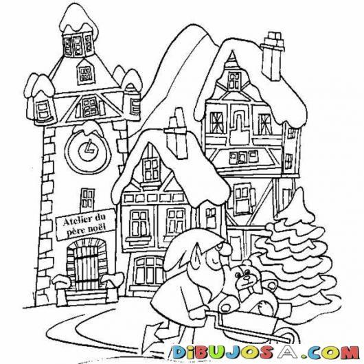 Fabrica De Juguetes De Papa Noel Para Colorear Colorear Dibujos De Navidad Fabrica De Juguete Dibujos Para Colorear Dibujos De Navidad Dibujos Para Pintar