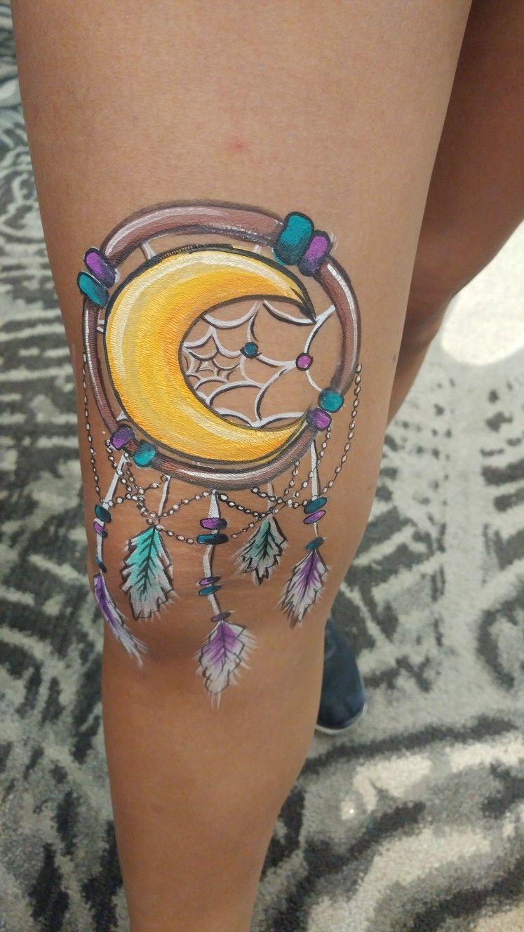 Moon dream,catcher done by Kristina Robak FABAIC Body art