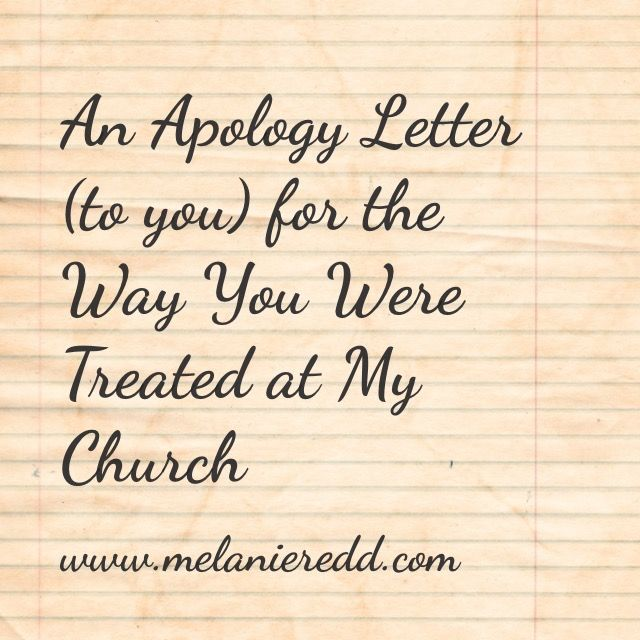 Did someone at church offend you \ hurt you? Here is a letter of - humble apology letter