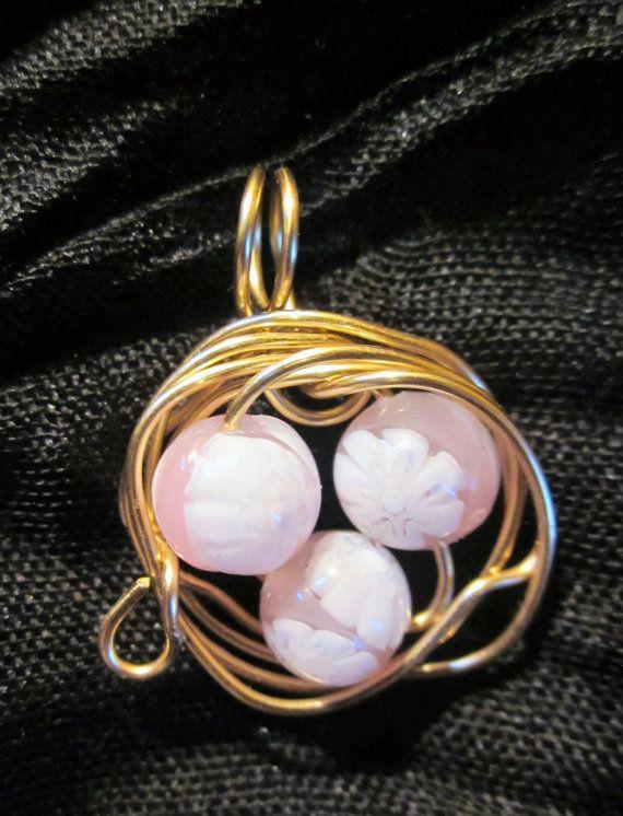 Best Selling Birds Nest Pendant,Bridesmaid Pendant, Wire wrapped Nest, Birds Nest Jewelry, Pendant, Necklace, Nest Pendant