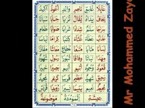 الدرس التاسع القاعدة النورانية نور محمد حقانى 2 Sami Periodic Table Youtube