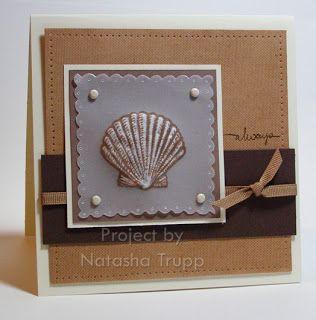 Palmtrees and Pogosticks- dry embossed seashell