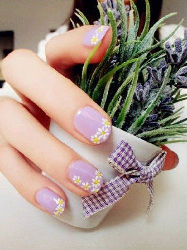 45 Warm Nails Perfect For Spring Daisy Nails Nail Designs