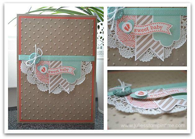 Baby Card -- Hearts a Flutter stamp set