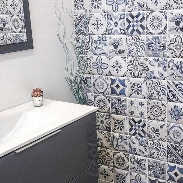 Decorative Tiles For Bathroom Decor Tavira Glazed Ceramic Wall Tile 150X150Mm  Bathroom Wall