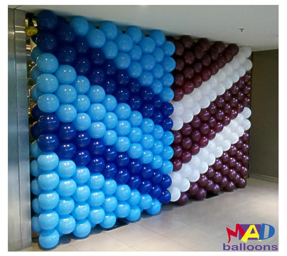 Mad blog june 2012 balloon wall backdrop pinterest for Balloon decoration on wall for birthday