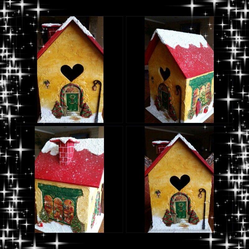 Casa de Navidad, con textura :)