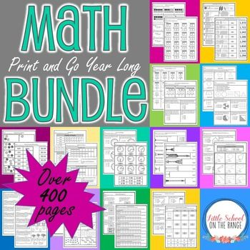 Print and Go Math - 2nd Grade Year Long BUNDLEThere are over 400 ...