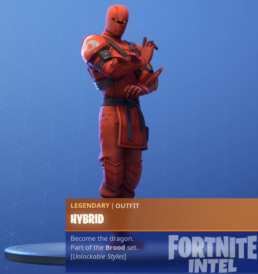 every variation of the fortnite hybrid season 8 battle pass skin fortnites season 8 battle pass launched on february 28 and features the hybrid which has - skin de ninja fortnite temporada 8