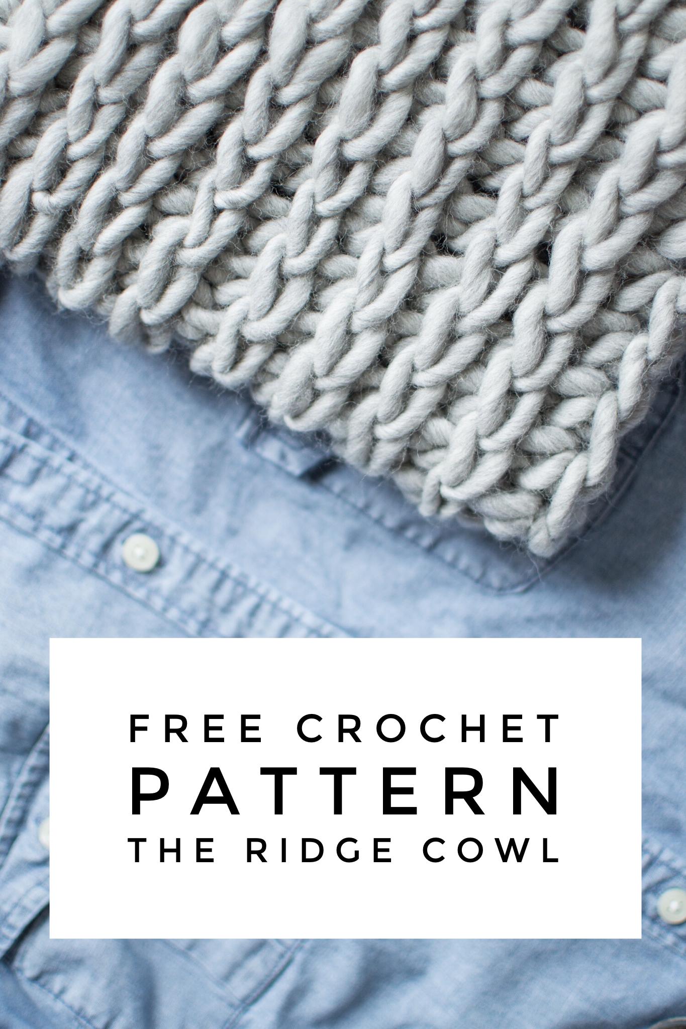 Free Crochet Pattern | The Ridge Cowl | Ribbed Crochet Infinity ...