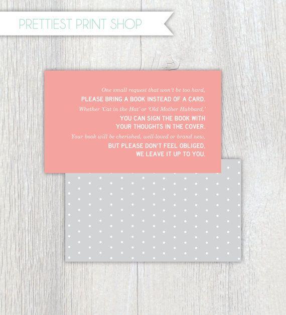 "printable invitation enclosure - baby shower - polkadot ""bring a, Baby shower invitations"
