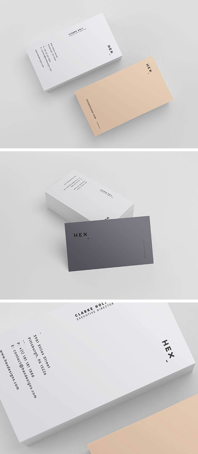 Free minimalistic business card template design resources and hex business card template reheart Image collections