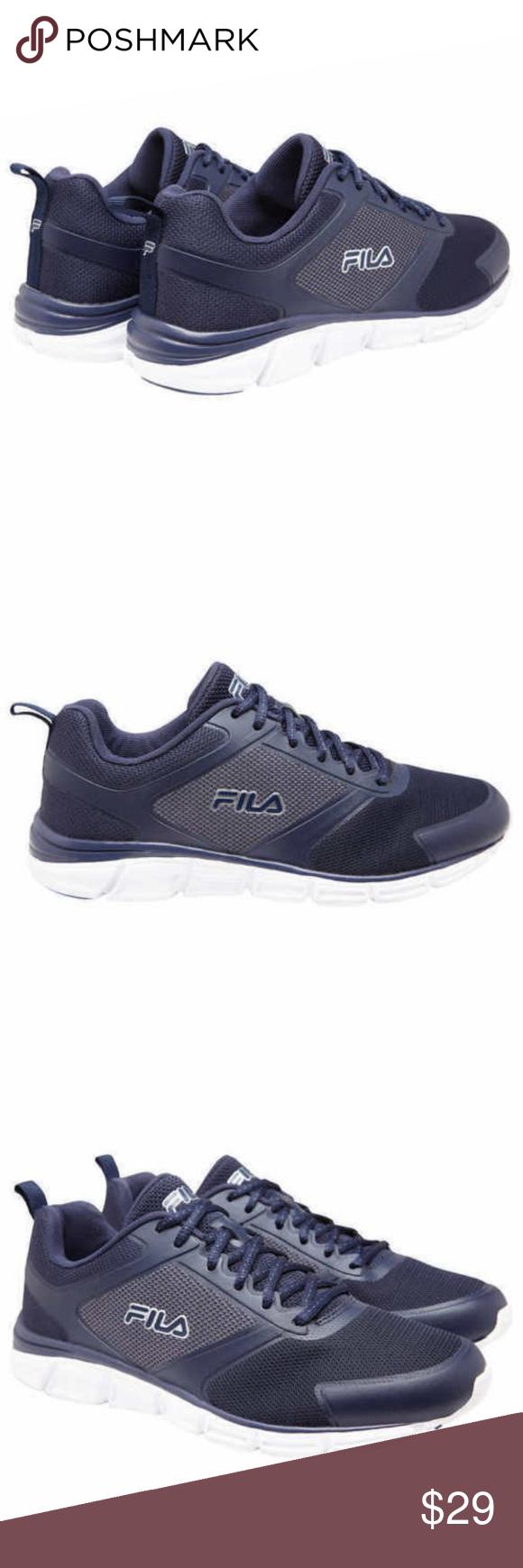 Fila Men's Memory Steelsprint Athletic Shoes Navy
