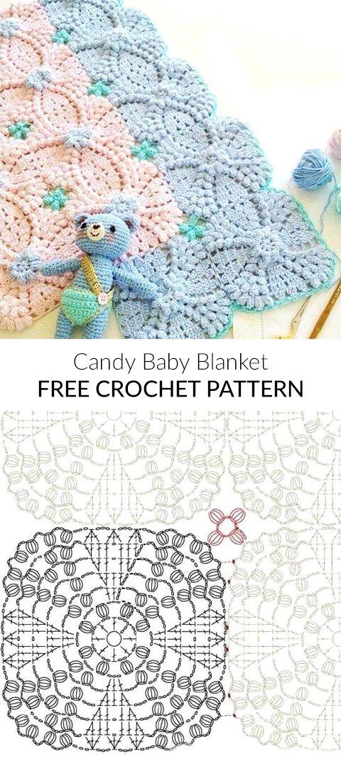 Candy Baby Blanket Free Crochet Pattern | Baby Blankets Free Crochet ...