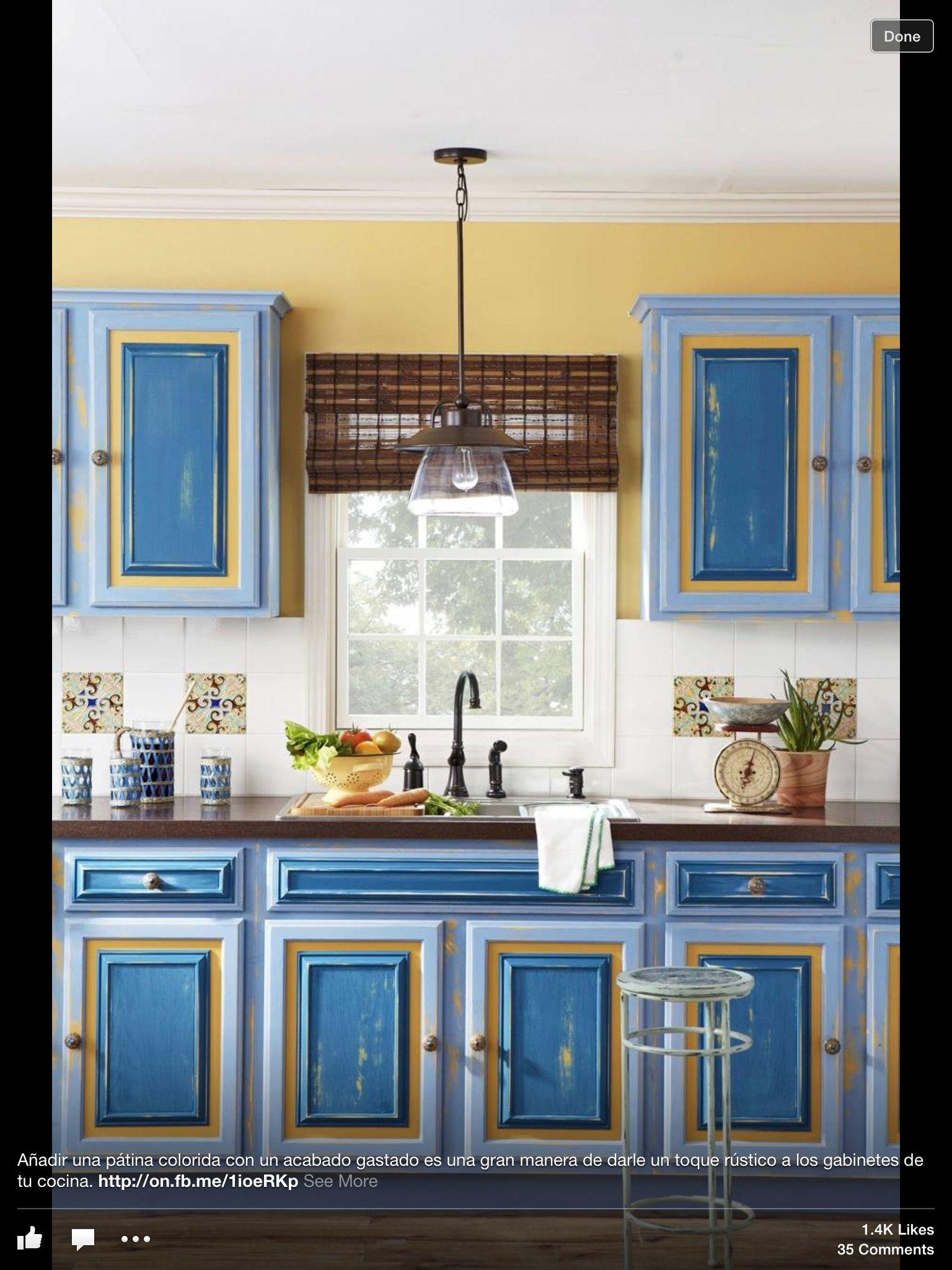 Different kitchen! Kitchen color combination
