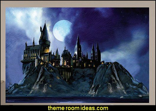 Superb Hogwarts Castle Wall Mural Harry Potter Bedroom Wall Decorations