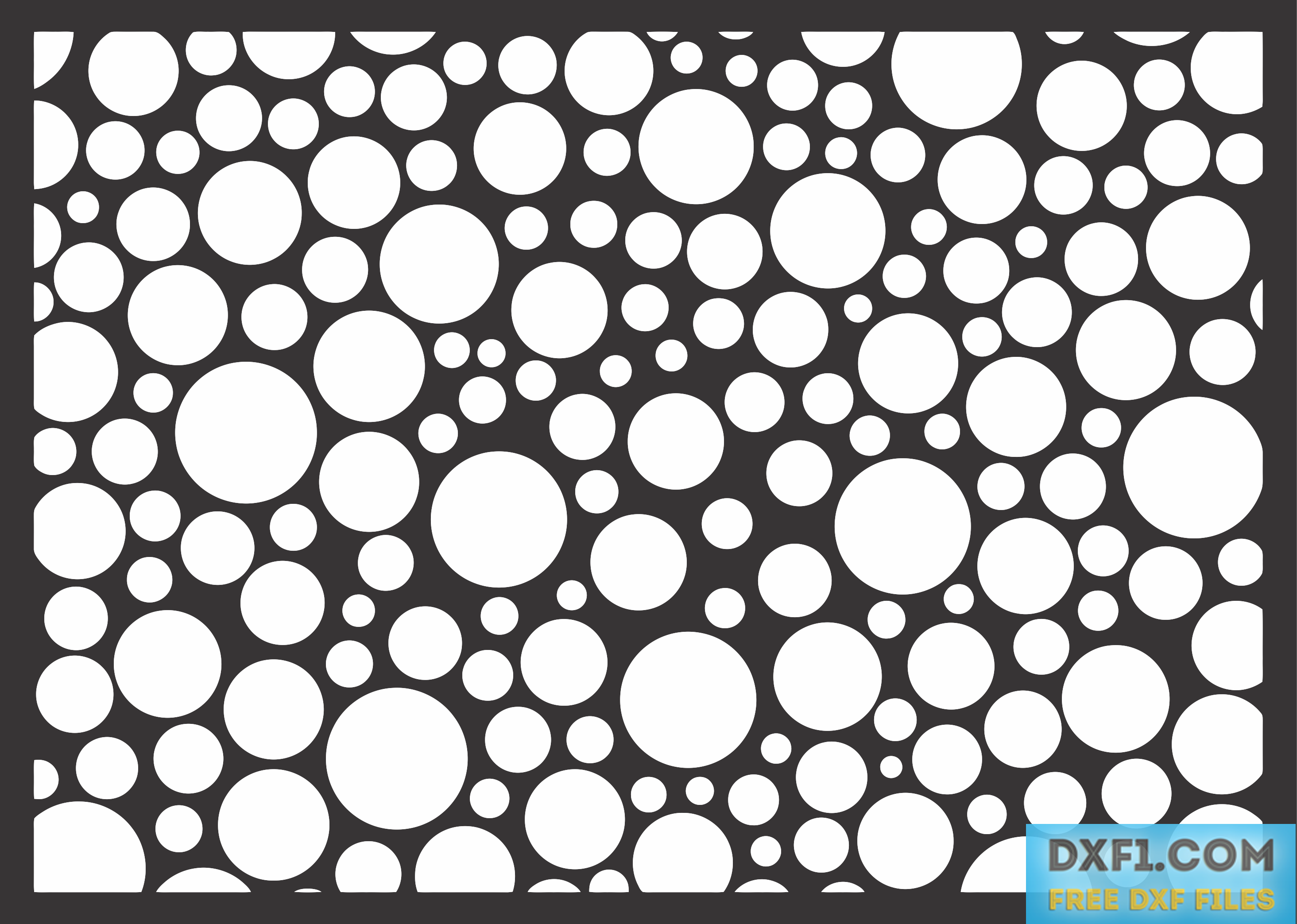 Decorative panel with circles. Download contains various