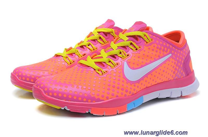 wholesale dealer d110f 7a8a9 Womens Nike Free Tr Fit Bright Mango Peachblow Yellow Training Shoes Sale