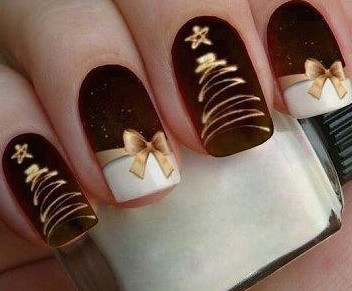 festive christmas nail art designs  ideas for new year