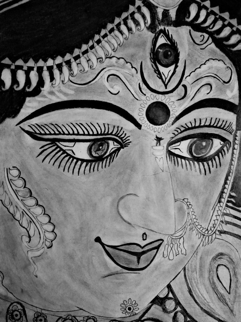 Sketch art durga maa durga maa sketch art