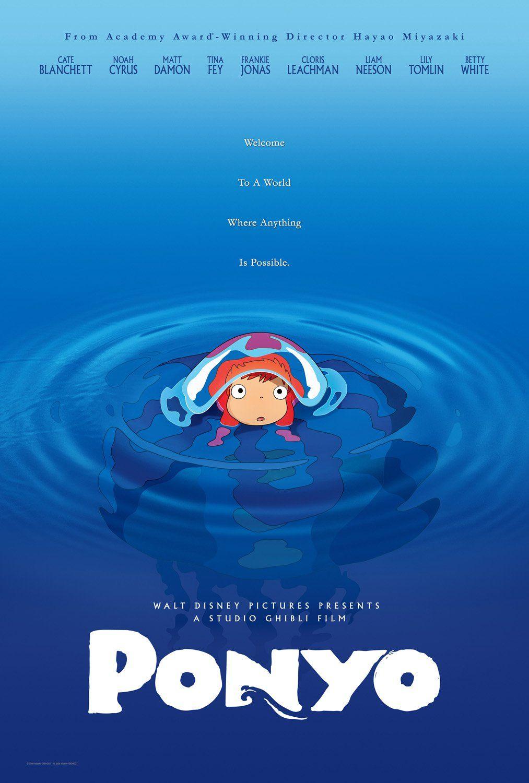 Ponyo (2008) Fantasy, Comedy Dir. Hayao Miyazaki Anime