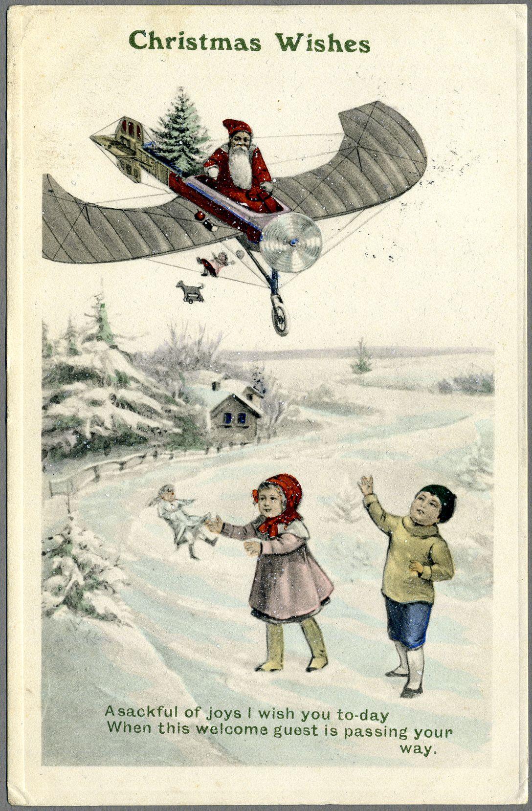 christmas wishes carte postale illustr e vers 1900 l 39 adresse mus e de la poste la poste dr. Black Bedroom Furniture Sets. Home Design Ideas