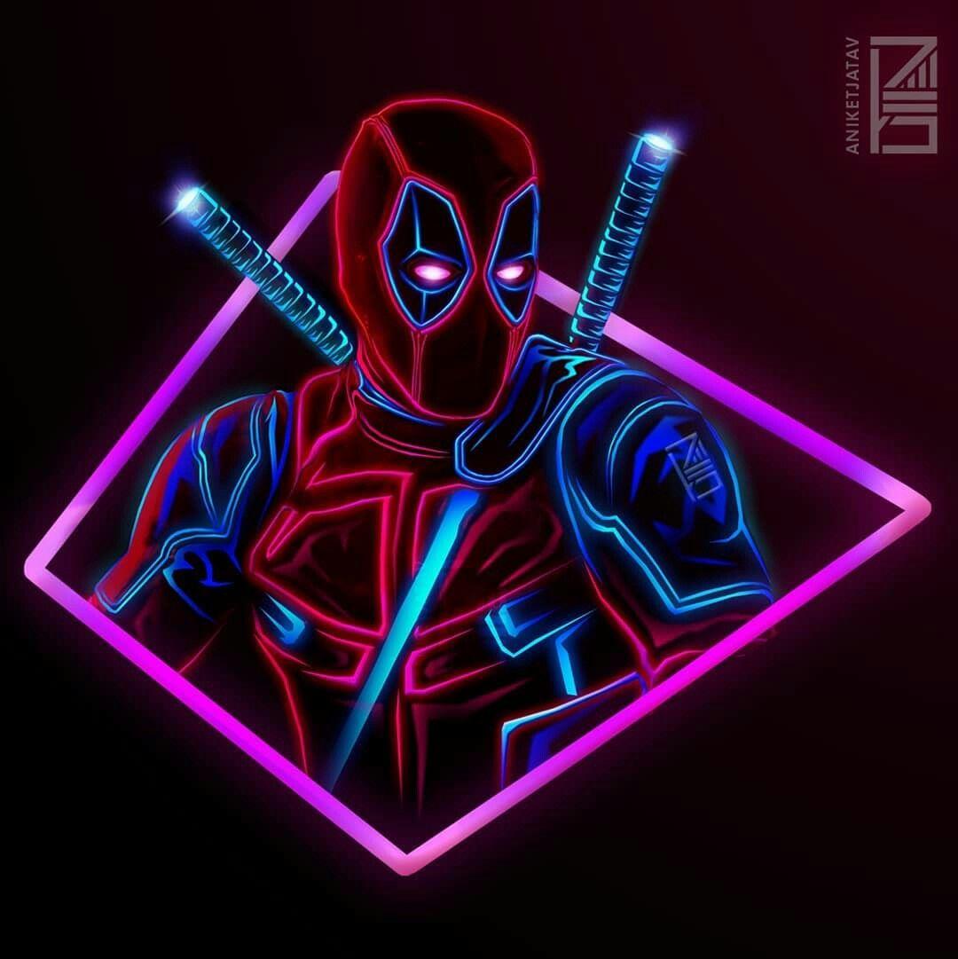 Deadpool Neon Art Marvel Universe Pinterest Marvel Marvel