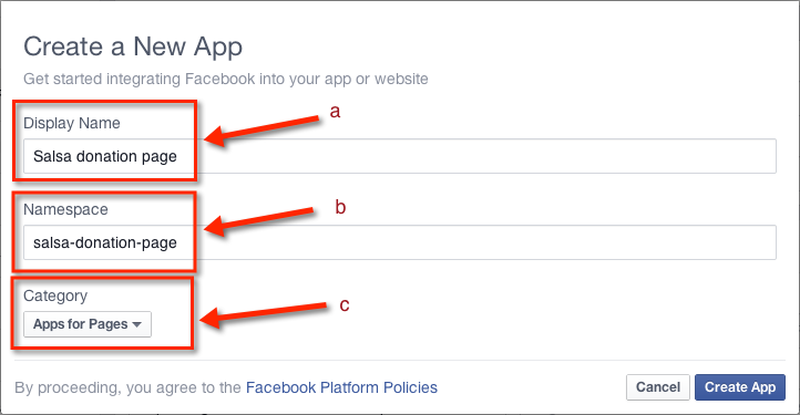 Adding Salsa pages to Facebook pages/tabs